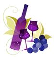 wineglassses and grape vector image