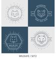 Trendy Retro Vintage Insignias Bundle Animals vector image