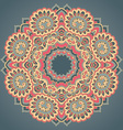 Round ornament pattern with floral decorative vector image
