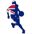 basketball colors of New Zealand vector image