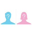 anonymous male and female profile picture emotion vector image