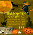 halloween poster for holiday horror night vector image