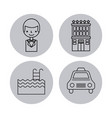 icon set travel accessories rest vector image