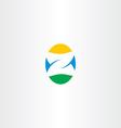 letter z egg logo icon vector image