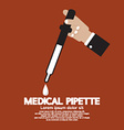 Medical Pipette In Hand vector image