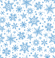Snowflakes pattern vector image