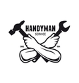 Handyman service emblem Carpentry related vector image