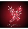 Christmas card with Red Holly vector image vector image