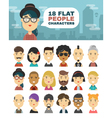 A set of 18 people characters in a flat style vector image