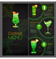 3D cocktail design Cocktail Menu design vector image