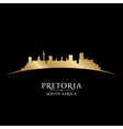 Pretoria South Africa city skyline silhouette vector image vector image