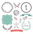 Beautiful collection of frames and laurels vector image