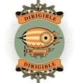 Dirigible vector image