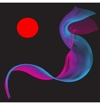 Red Purple Smoke Abstract vector image