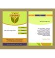 Brochure Flyer design template in A4 size Logo vector image
