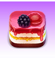 cake ios app icon vector image
