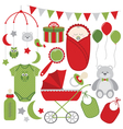 Christmas Baby Set vector image