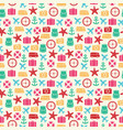 cute colorful summer seamless pattern on sand vector image