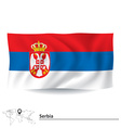 Flag of Serbia vector image