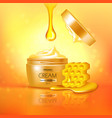 jar of cream with honey composition vector image