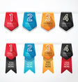 Modern Design button banners number vector image