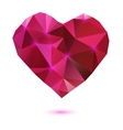 Origami heart vector image