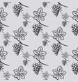 seamless pattern of grape vector image