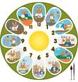 Clock Rabbit Schoolchild vector image