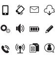 smartphone basic app icons set vector image
