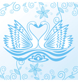 Swan pattern background vector image vector image