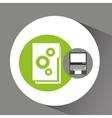 laptop technology file folder graphic vector image