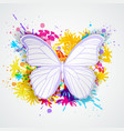paper butterfly and blots vector image vector image