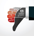 fingers shape bad news jigsaw banner concept vector image vector image