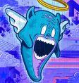 angel monster vector image vector image
