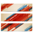 Set of retro horizontal banners vector image vector image