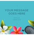 Health and beauty template spa concept vector image vector image