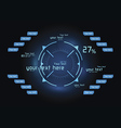 Blue infographics as head-up display vector image