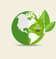 ECO FRIENDLY Ecology concept with Green Eco Earth vector image