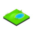 Lake landscape icon isometric 3d style vector image