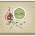 Vintage border rose vector image