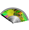 Fan with abstract drawing vector image vector image