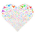 unknown person fireworks heart vector image