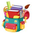 Back to schoolschool bag vector image vector image