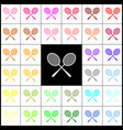 tennis racquets sign  felt-pen 33 colorful vector image