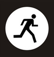 Man running icon vector image