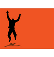 jumping design vector image