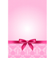 pink wallpaper with bow vector image