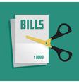 Cut bills vector image
