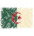 Algerian grunge flag vector image