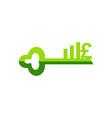 Business finance logo lock vector image